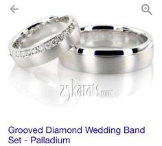 Groved diamond wedding band set $2065.68!