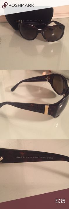 LDW sale- Authentic Marc by Marc Jacobs Sunglasses Authentic Marc by Marc Jacobs sunglasses. Only worn a handful of times. Logo wording on outer sides of glasses and logo on inside as well. Comes with velvet Marc by Marc Jacobs case Marc by Marc Jacobs Accessories Sunglasses