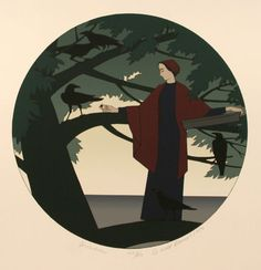 Artist: Will Barnet Title: Ariadne Year: 1980 Medium: Serigraph, signed and numbered in pencil Edition: 150 Paper Size:29.5 x 22 inches; Image: 17.75 diam. Price: $2000