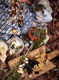 Fruit skewers are great for parties as they're so easy to prepare; try Jamie's rustic rosemary prune skewers with bacon, walnut and goats cheese. Quince Jelly, Fresco, Fruit Skewers, Fruit Recipes, Jamie's Recipes, Starter Recipes, Pasta Recipes, French Food, Gourmet