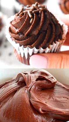 Homemade Chocolate Frosting is luscious It has a rich chocolate flavor, and a soft texture. This may be the easiest chocolate frosting to make from scratch. Chocolate Icing Recipes, Homemade Chocolate Frosting, Betty Crocker Chocolate Frosting Recipe, Chocolate Filling For Cake, Chocolate Whipped Cream Frosting, Fun Baking Recipes, Cupcake Recipes, Sweet Recipes, Köstliche Desserts