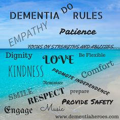 Actions Speak Louder Than Words! In the world of dementia the one who gets the most done in a day is not the winner, but the one who enriches the life of the one they are caring for. dementiaheroes.com