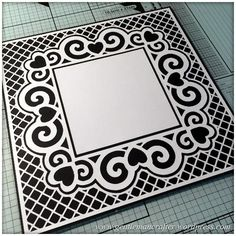 Scan It Saturday - Love Heart Swirly Frame Cutting File For The Brother Scan N Cut 1