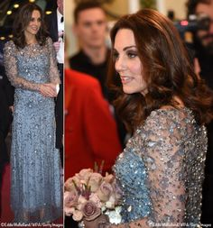 Kate glittered in a new Jenny Packhamgown at this evening's Royal Variety Performance. The start of the performance was delayed because of a security concern at the Oxford Circus tube station about an hour before the show was scheduled tobegin. The station is very close to the Theatre. It turned out there was no security …