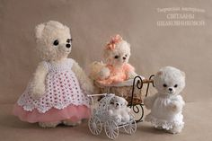 """Buy Teddy Bears Author of a series of """"Mothers and Daughters"""" Teddys made by Svetlana Shelkovnikova"""