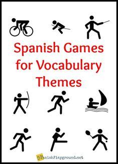 Spanish Vocabulary Games for Themes - Spanish Playground
