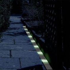 Glow in the Dark Path Markers...practical yet cool!