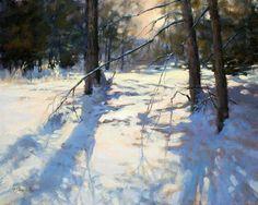 "Winter's Beckoning, Barbara Jaenicke, Oil on Canvas 16 x 20"""