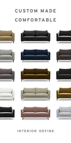 Buying a sofa should be as comfortable as lounging on one. Choose one of our timeless modern designs, then customize fabrics, legs, cushion fill, and more. Our Design Specialists are happy to consult with you on your unique sp Modern Sofa, Modern Decor, Modern Design, Diy Garden Projects, Diy Home Decor Projects, Garden Ideas, Living Room Sofa Design, Living Room Decor, Shed Kits