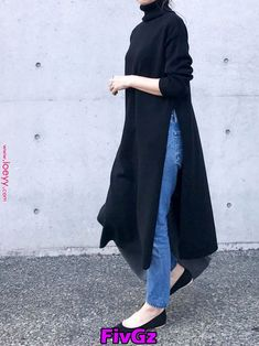 【予約販売】 サイドスリットニット Day and Grade Amel (エイメル) Muslim Fashion, Modest Fashion, Hijab Fashion, Fashion Dresses, Fashion Clothes, Modest Dresses, Modest Outfits, Casual Outfits, Womens Fashion Online