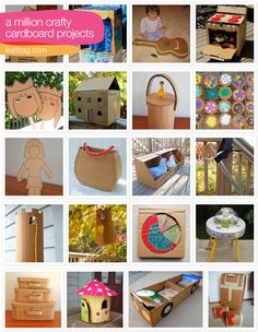 Everything you could ever hope to make out of a cardboard box - creative!