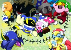 Everyone's expressions are pretty funny in this! Especially Kirby and Dedede man! I really love Meta Knight in this too though! Awesome Games, Fun Games, Cat Egg, Kirby Character, Meta Knight, Dream Land, Mario Kart, Super Smash Bros, Love Is All