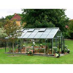 Serre de jardin 18,8m² en verre trempé Gardener - Juliana sur www.ma-serre-de-jardin.com