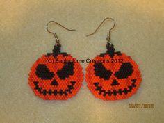 Halloween Jackolantern earrings by EagleplumeCreations on Etsy, $16.99