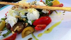 Caprese 3 Cheeses Salad - Rooftop Table | food inspiration for dinner parties