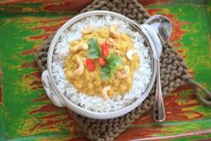 Thermomix recipe: Chickpea and Cashew Nut Curry · Tenina.com