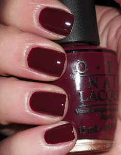 OPI Mrs O Leary's BBQ...my Fave fall colour!