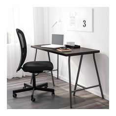The Best Modern Home Office Design Elements Home Office Layouts, Home Office Design, Office Designs, Office Furniture, Office Decor, Home Furniture, Ikea Linnmon, Grey Office, Desk Inspiration
