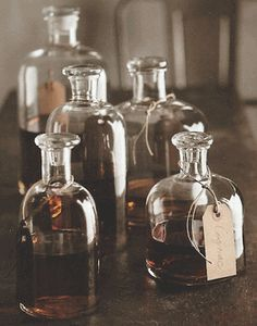Apothecary Decanters, Set/5 *NEW* 2012 Cool website with lots of vintage apothecary, although *pricey*.