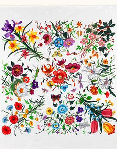 gucci silk flora scarf