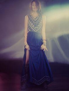 Free People Beaded Silk Chiffon Gown, $1254.00