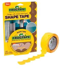 (2 ROLLS) FROGTAPE PAINTERS TAPE SCALLOP SHAPE PACKAGING 150 FT  NIP Yellow Frog