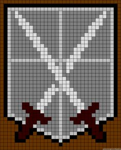 Shingeki no Kyojin | Attack on Titan | Training Corps | Friendship bracelet pattern