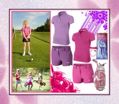 Fabulous Purple and Pink Nike Junior Golf Outfit. Get it at #lorisgolfshoppe