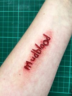 Synthetic Mudblood scar - great fancy dress idea for Potter. Something a bit different