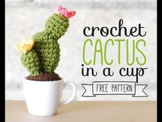 Disfrutar de su cactus lindo ganchillo! - YouTube