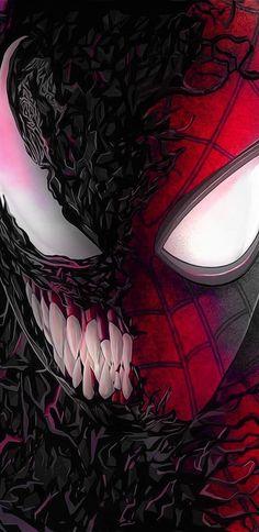 Spiderman & Venom HD Phone Wallpaper - Art Tutorial and Ideas Black Spiderman, Amazing Spiderman, Spiderman Art, Venom Spiderman, Marvel Art, Marvel Heroes, Marvel Avengers, Upcoming Marvel Movies, Hd Phone Wallpapers