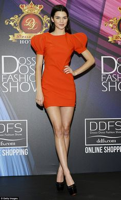 Hot stuff: Kendall later attended the official press conference, wowing in a mini dress in...
