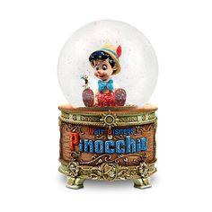Palla di neve con luci e musica di Pinocchio
