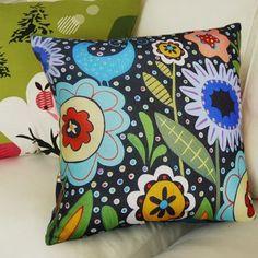 Velvet or Cotton Canvas Pillow Cover Big Blooms Folk Art Abstract Karla Gerard | eBay