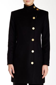Rachel Zoe - Vince Asymmetrical Slim Wool Blend Coat is now 58% off. Free Shipping on orders over $100.