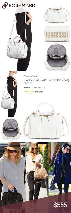 8fadc554f6 Bag · New Alexander Wang Rockie Leather Crossbody Satche 100% authentic New Alexander  Wang Rockie Leather Crossbody