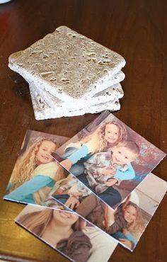 A Diamond in the Stuff: DIY Photo Tile Coasters