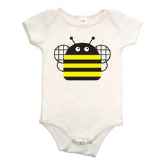 Organic Unisex Barnyard Bee Onesie - Made in USA by ColetteKids on Etsy https://www.etsy.com/listing/172564153/organic-unisex-barnyard-bee-onesie-made