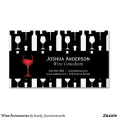 Wine Accessories Business Card Magnet Magnetic Business Cards, Wine Bottle Opener, Standard Business Card Size, Stick It Out, Professional Business Cards, Keep It Cleaner, High Gloss, Vibrant Colors, Magnets