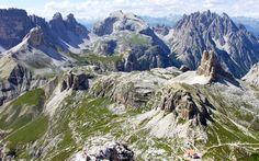 Rifugio Locatelli visto dal Monte Paterno