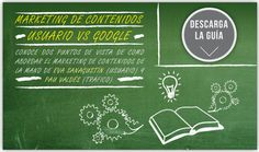 """Marketing de Contenidos: Usuario vs Google"", ebook en colaboración con Pau Valdés de Inbouncycle (mayo 2013). Inbound Marketing, Online Marketing, Blog, Wordpress, Ebooks, Social Media, Mayo, Google, Libros"