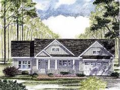 Elevation of Cottage   Craftsman   Ranch   House Plan 94182