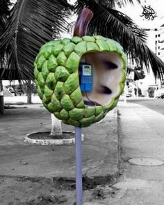 Here we have for you a collection of Creative, Cool and Unusual Phone Booths from all over the world. Hope you like them! Telephone Booth, Vintage Telephone, Et Phone Home, Computer Camera, Funny Fruit, Call Me Maybe, Exotic Art, Old Phone, Roadside Attractions