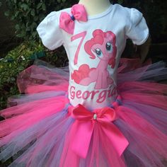 My Little Pony Pinkie Pie Girls Birthday por PrincessBirthdayTees