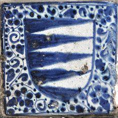 tile, 15th century Valencia Inventario: FC.1994.02.626