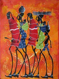 Image detail for -TingaTinga 5 - Original Paintings from Tanzania