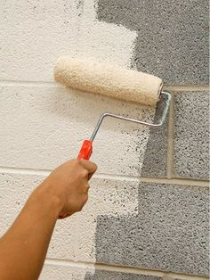 paint concrete block wall outdoor - Google Search