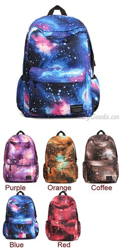 Which color do you like? Casual Universe Blue Galaxy School Backpacks #backpack #galaxy #school #college #universe #casual #bag