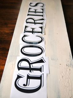 Follow these steps from HGTV.com to create an antique-inspired sign that's a practical and eye-catching accessory for any kitchen.