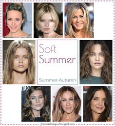 Soft Summer, Summer-Autumn seasonal color celebrities